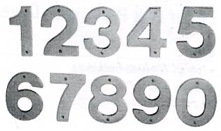 Ives 5 Quot Contemporary House Numbers