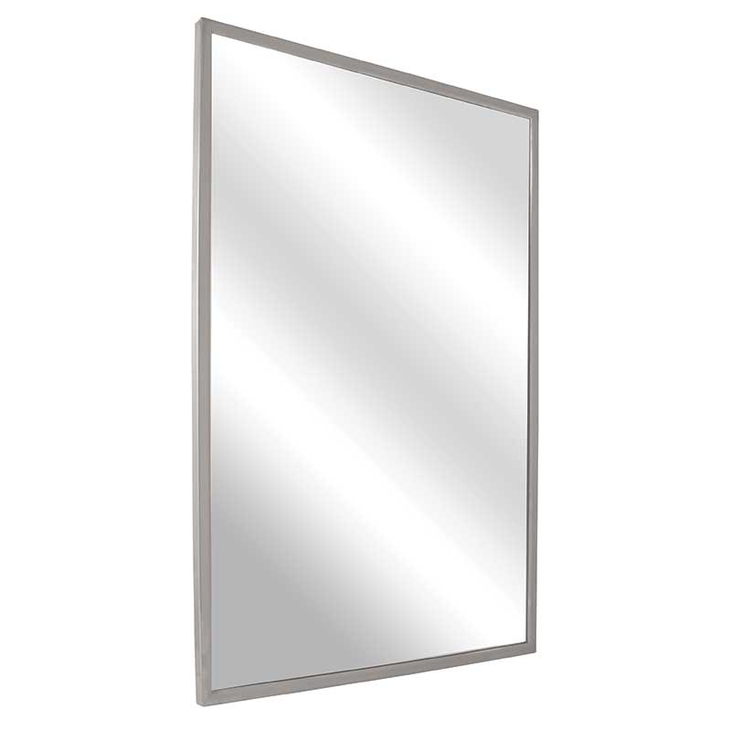 bradley angle frame mirror with 1 4 tempered plate glass