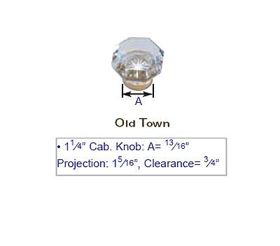 Emtek 1 1 4 Quot Old Town Crystal Cabinet Knob