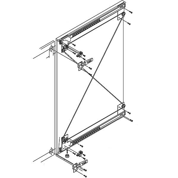 hafele xl slide pocket door system harbor city supply. Black Bedroom Furniture Sets. Home Design Ideas