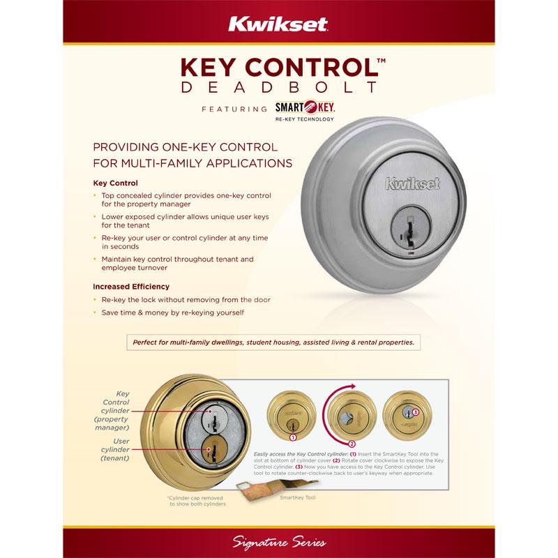 Kwikset Signature Series Key Control Deadbolt