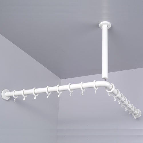 Ceiling Mounted Track Shower Curtain Rods Shower Curtain Rod Support B