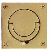 Baldwin Solid Brass Squash Court Flush Ring Pull