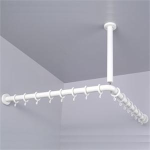 Cord Drawn Curtain Rods Extra Long Shower Curtai